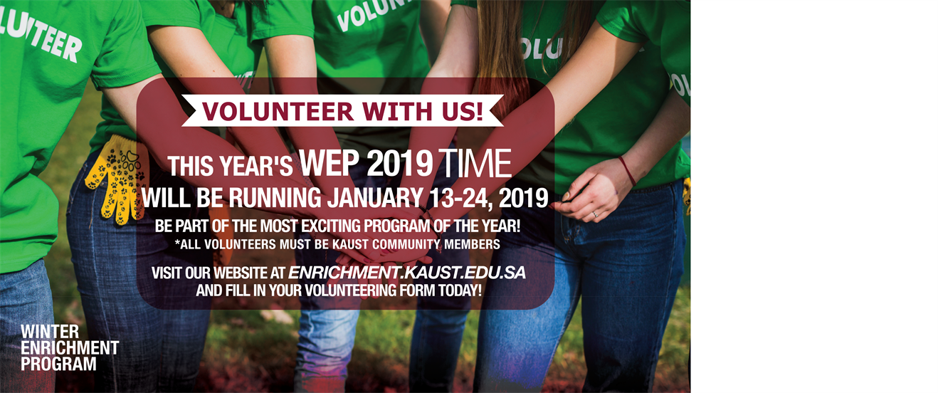 Volunteer for WEP 2019
